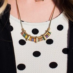 NWOT Stella & Dot Wanderer Necklace Gold
